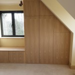 Bespoke wardrobes built in to loft conversion.