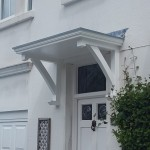 Bespoke white door with canopy