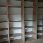 Newly constructed shelves