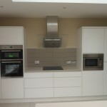 White kitchen suite installation