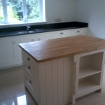 Bespoke kitchen island installation.