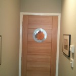 Bespoke wooden door with circular window